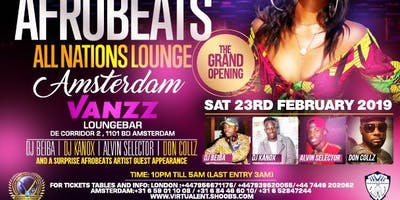 AFROBEATS ALL NATIONS LOUNGE AMSTERDAM GRAND LAUNC