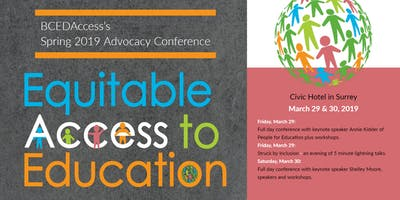 BCEdAccess Annual Conference - Advocacy: Equitable Access to Education