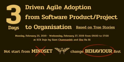 3 Days Driven Agile Adoption from Software Product