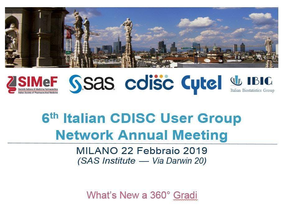 VI CDISC Italian User Network