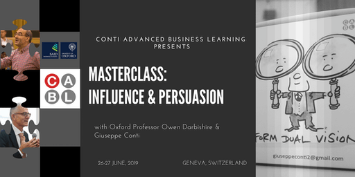 Masterclass: Influence and Persuasion Two Day Special Event