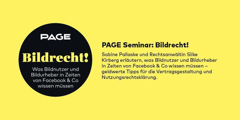 PAGE Seminar »Bildrecht!« mit Sabine Pallaske