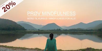 PRØV Mindfulness. Intro til kursus i mindfulness for alle