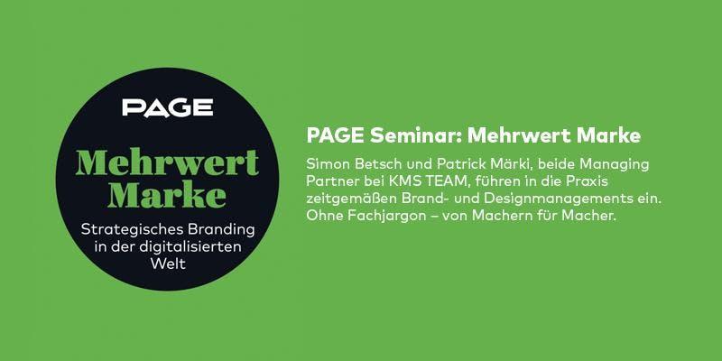 PAGE Seminar »Mehrwert Marke« mit Simon Betsc