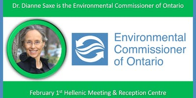 Dr. Dianne Saxe -  the Environmental Commissioner of Ontario