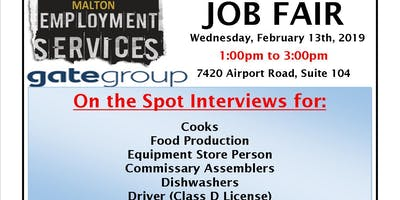 GateGroup Job Fair (Airline Catering Services)