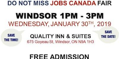 Windsor Job Fair – January 30th, 2019