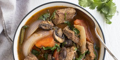 Puebla Style Braised Beef with Mushrooms and Chile