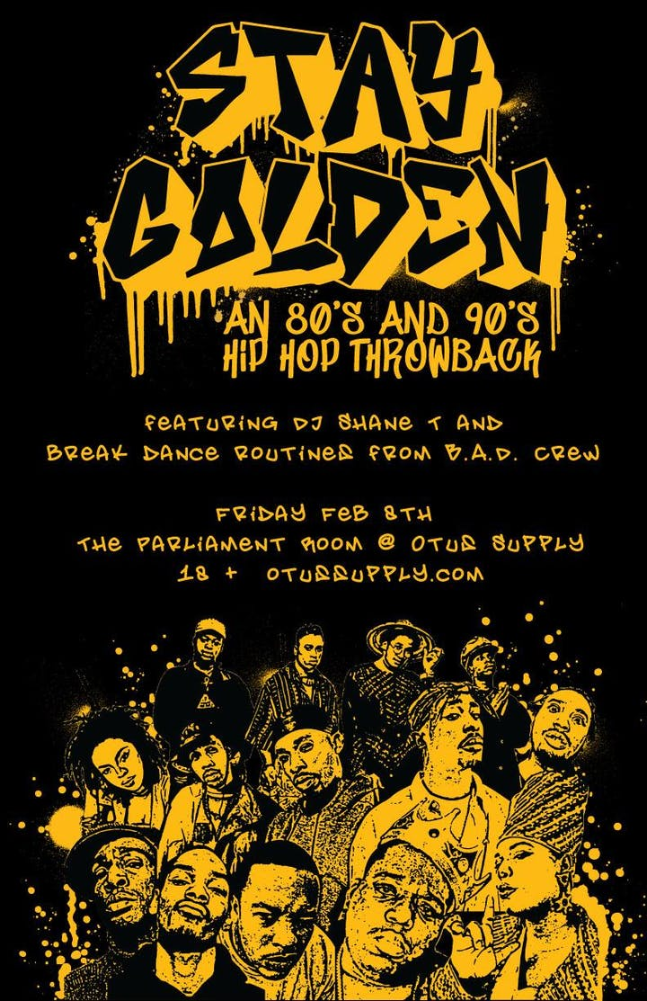 Stay Golden: 80s-90s hip-hop throwback – Tickets – Otus