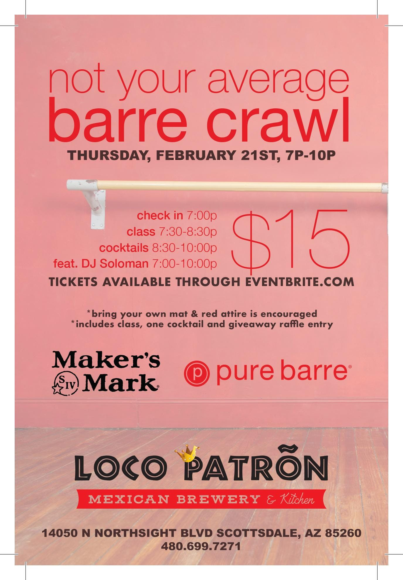 Not Your Average Barre Crawl