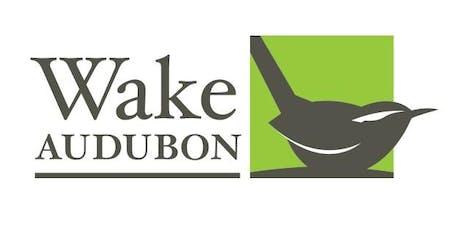 Wake Audubon free monthly community program tickets