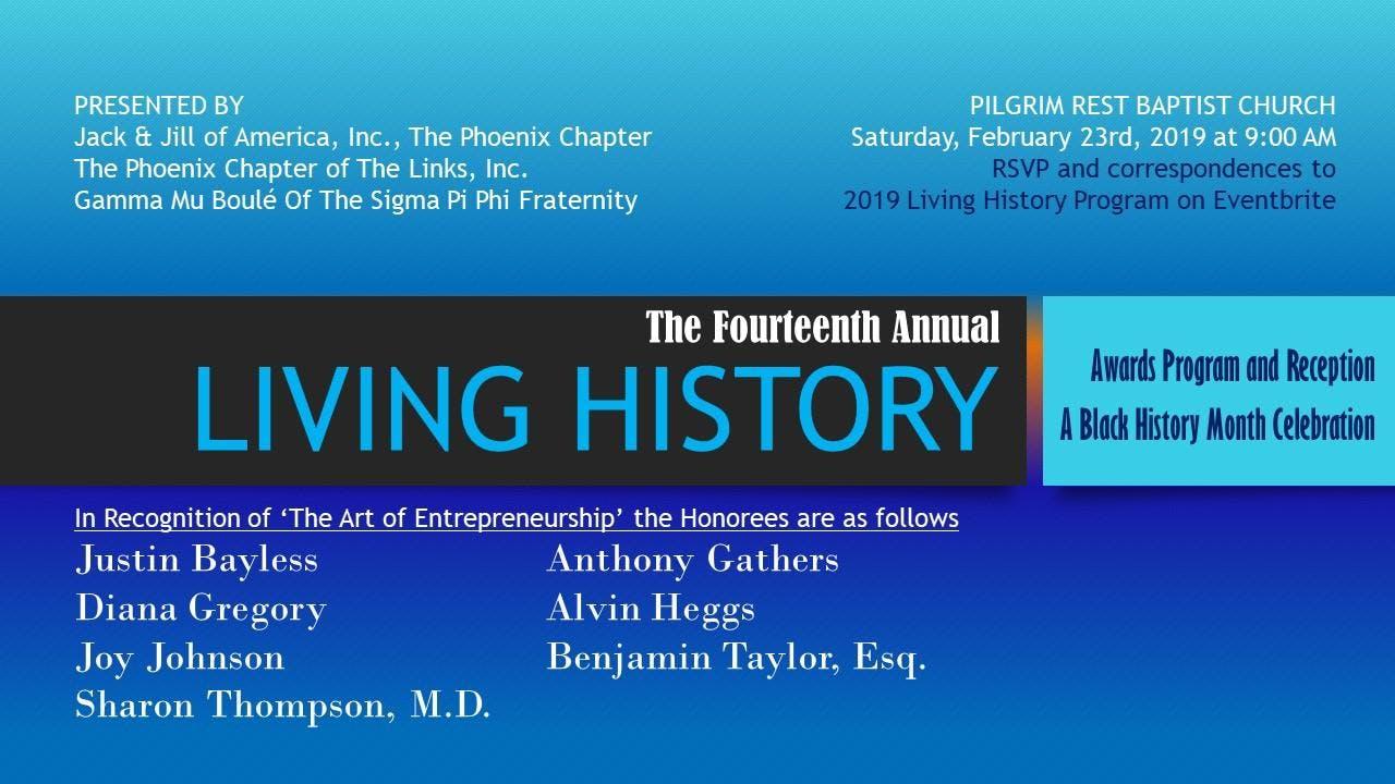 The 2019 Living History Program