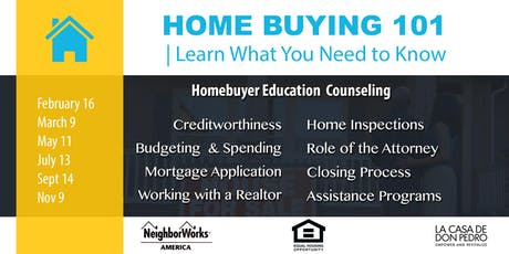 La Casa de Don Pedro Homebuyer Education 2019 tickets