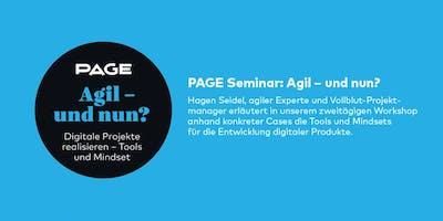 PAGE Seminar »Agil – und nun?« mit Hagen Seidel