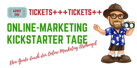 Online-Marketing Kickstarter Tage September tickets