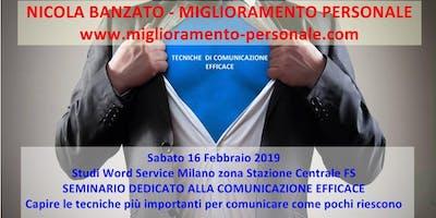 SEMINARIO DEDICATO ALLA COMUNICAZIONE EFFICACE