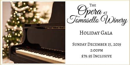 Tomasello Winery's Holiday Opera Gala
