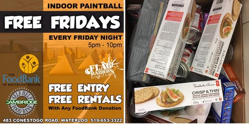 FREE Fridays with a FoodBank Donation at Flag Raiders Paintball