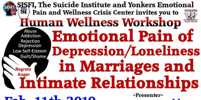 SISFI's Emotional Pain of Depression/Loneliness in Marriages/Intimate Relationships