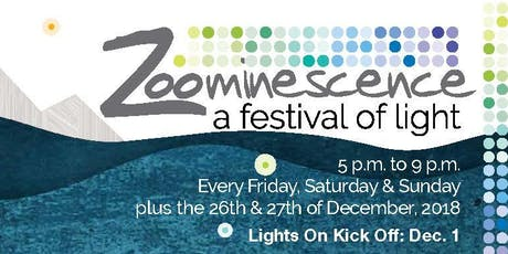 Zoominescence 2019; a Festival of Light (at the Edmonton Valley Zoo) tickets