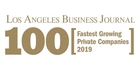 Los Angeles Business Journal Fastest Growing Private Companies 2019  tickets