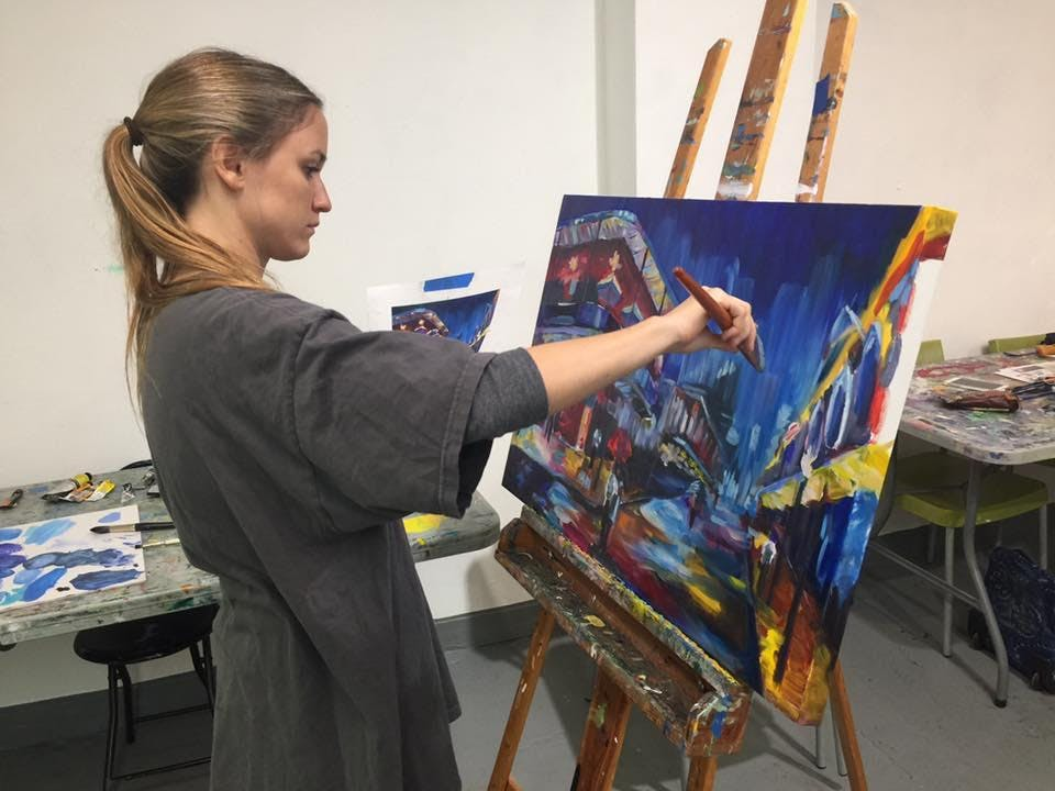 Painting With Acrylics or Oils: 6 Week Course (Tuesday)