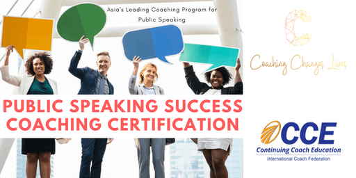 Public Speaking Success Coaching Certification (ICF Approved) Singapore