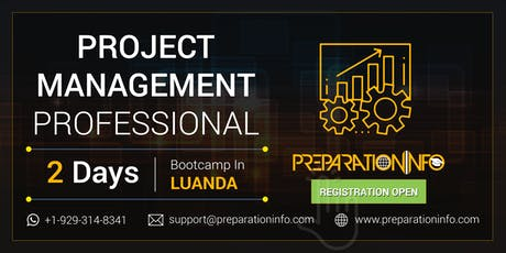 PMP Exam Prep Classroom Training and Certification in Luanda 2 Days bilhetes