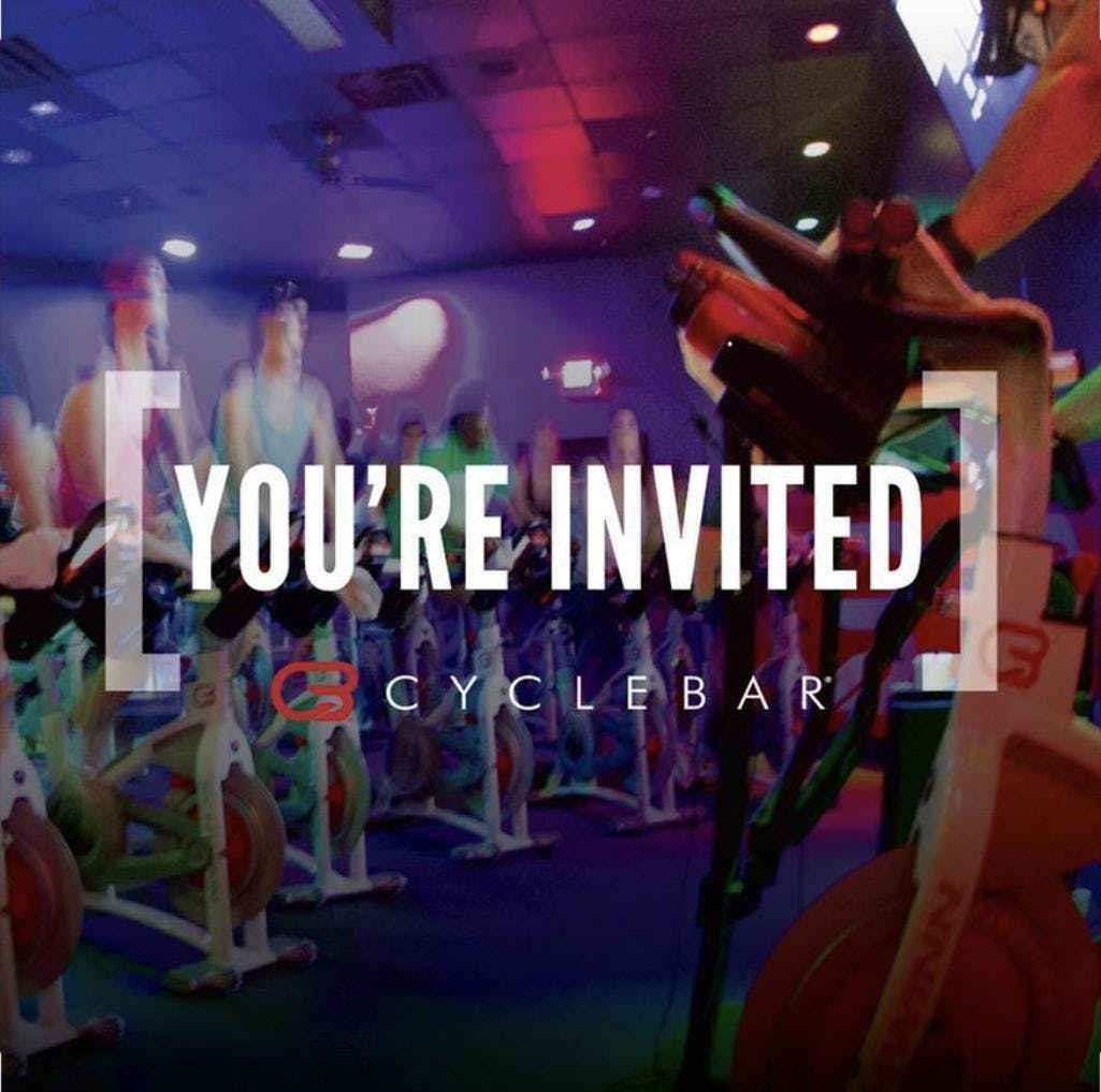 CycleBar EXCLUSIVE Invitation