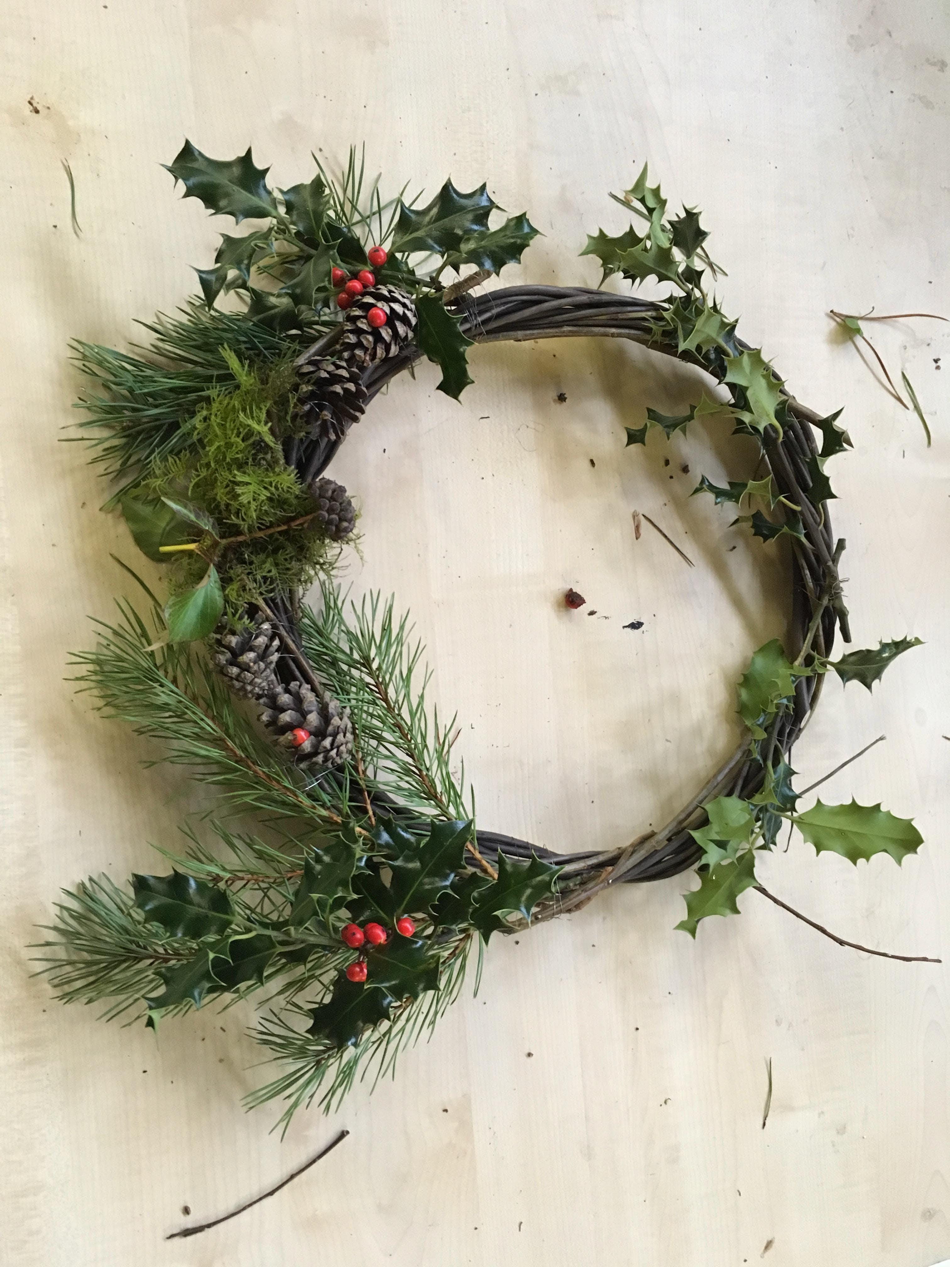 Family Winter Wreath Making Workshop