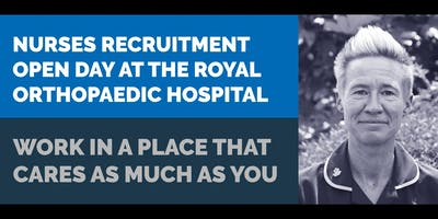 Nurses Recruitment Open Day at the Royal Orthopaedic Hospital