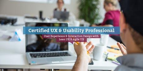 Certified UX & Usability Professional, (EN) Copenhagen tickets