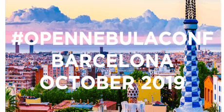 OpenNebulaConf 2019: October 21-22 tickets