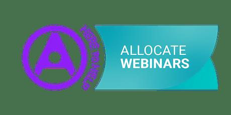 Webinar| Budget and establishment setting using the Allocate HealthSuite  tickets