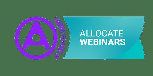Webinar| Budget and establishment setting using the Allocate HealthSuite