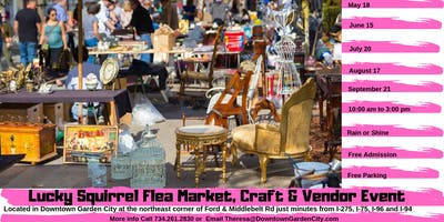 Lucky Squirrel Flea Market, Craft & Vendor Event - Free Admission & Parking