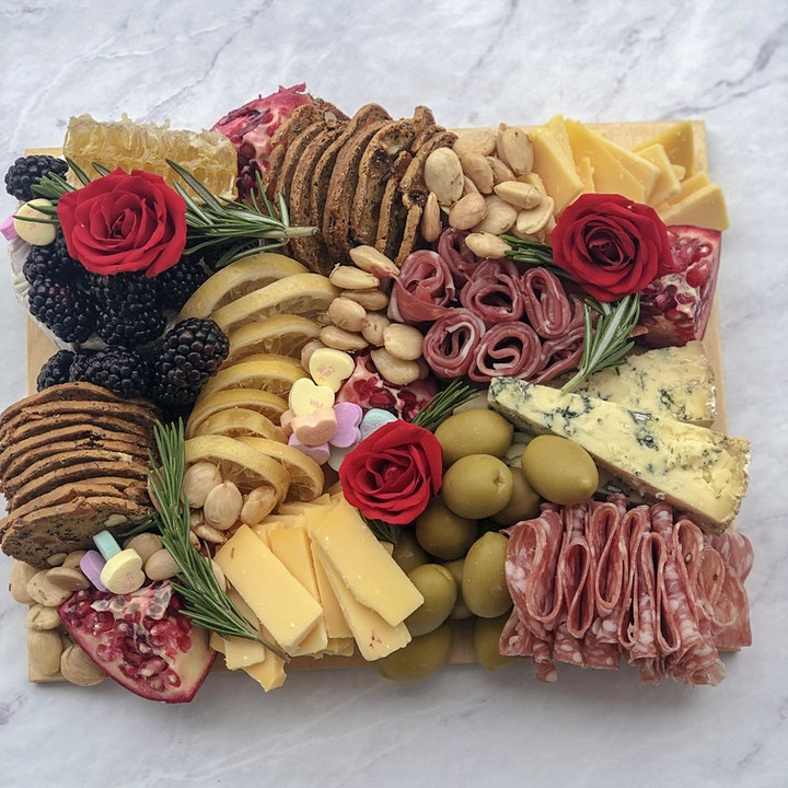 Valentine's Day Cheese Board Making Workshop by @cheatsandmeeses image
