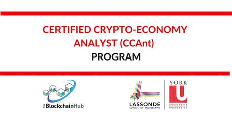 Certified Crypto-Economy Analyst (CCAnt) Program tickets