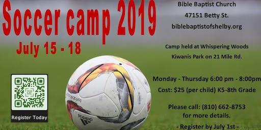 Bible Baptist 2019 Soccer Camp