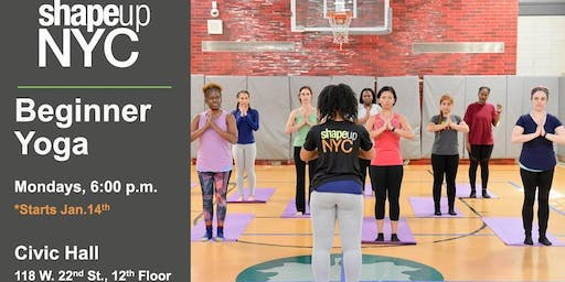 Civic Hall Presents: #MindfulMondays - Yoga with ShapeUp NYC