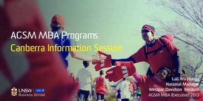 AGSM MBA Information Evening - Canberra