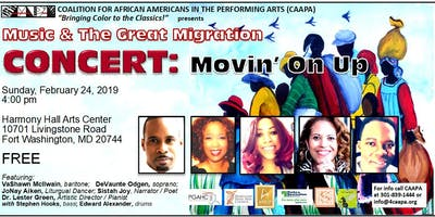 Music and The Great Migration: Movin' On Up Concert