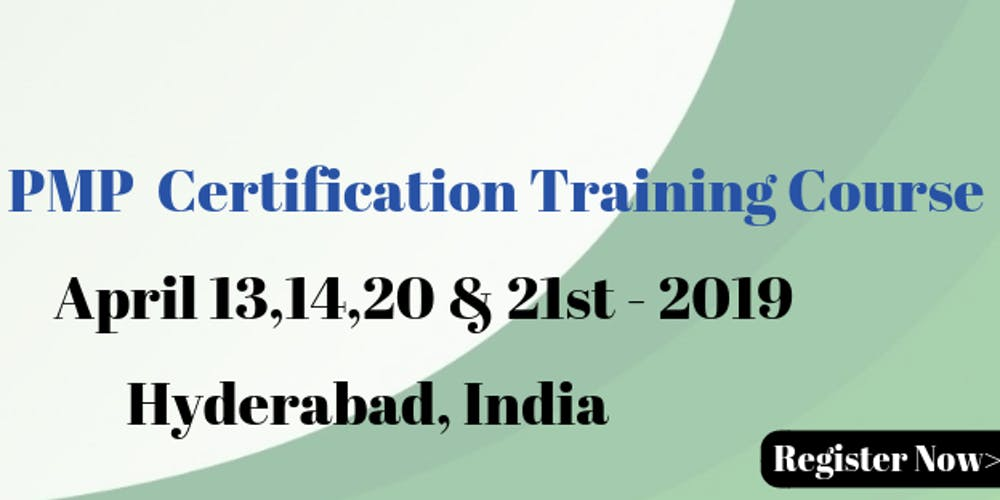 Pmp Certification Training Course In Hyderabadindia Tickets Sat