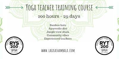 Oct 2019:  29 Day 200hr Hatha & Vinyasa Yoga Teacher Training Koh Phangan