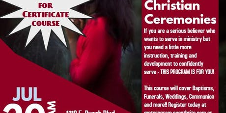 """Christian Ceremonies"" Gospel Ministry Training Seminar tickets"