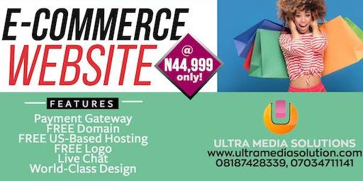 ECOMMERCE WEBSITE DESIGN PACKAGE