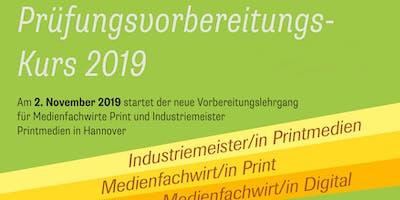 Prüfungsvorbereitungskurs Medienfachwirt Print & Industriemeister Printmedien