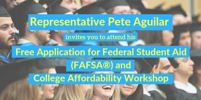 Free Application for Federal Student Aid (FAFSA®) and College Affordability Workshop