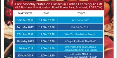 Ladies Learning To Lift FREE Nutrition Class