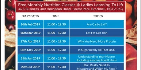 Ladies Learning To Lift FREE Nutrition Class tickets